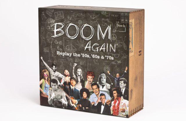 "Boom Again is a new ""cultural trivia"" board game."