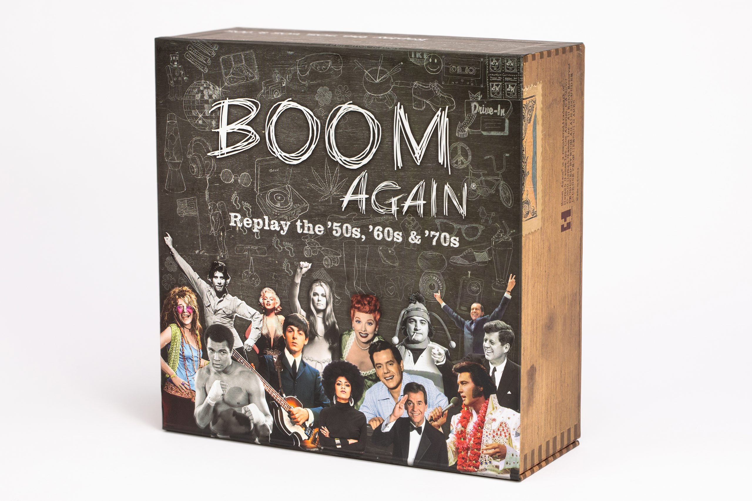 "Boom Again is a new ""cultural trivia"" board game."