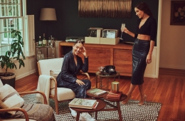 Olivia Culpo and her sister model their new line for Macy's.