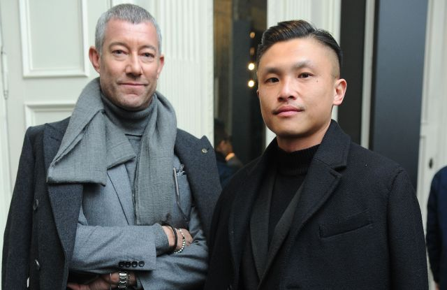 Grant Pearce and Jacky Tam at a Santoni event.