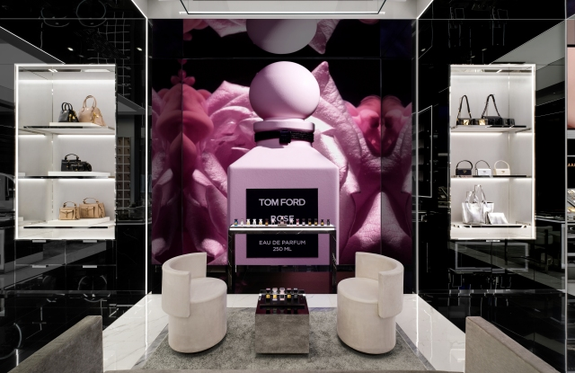 Inside Tom Ford's Guangzhou store.
