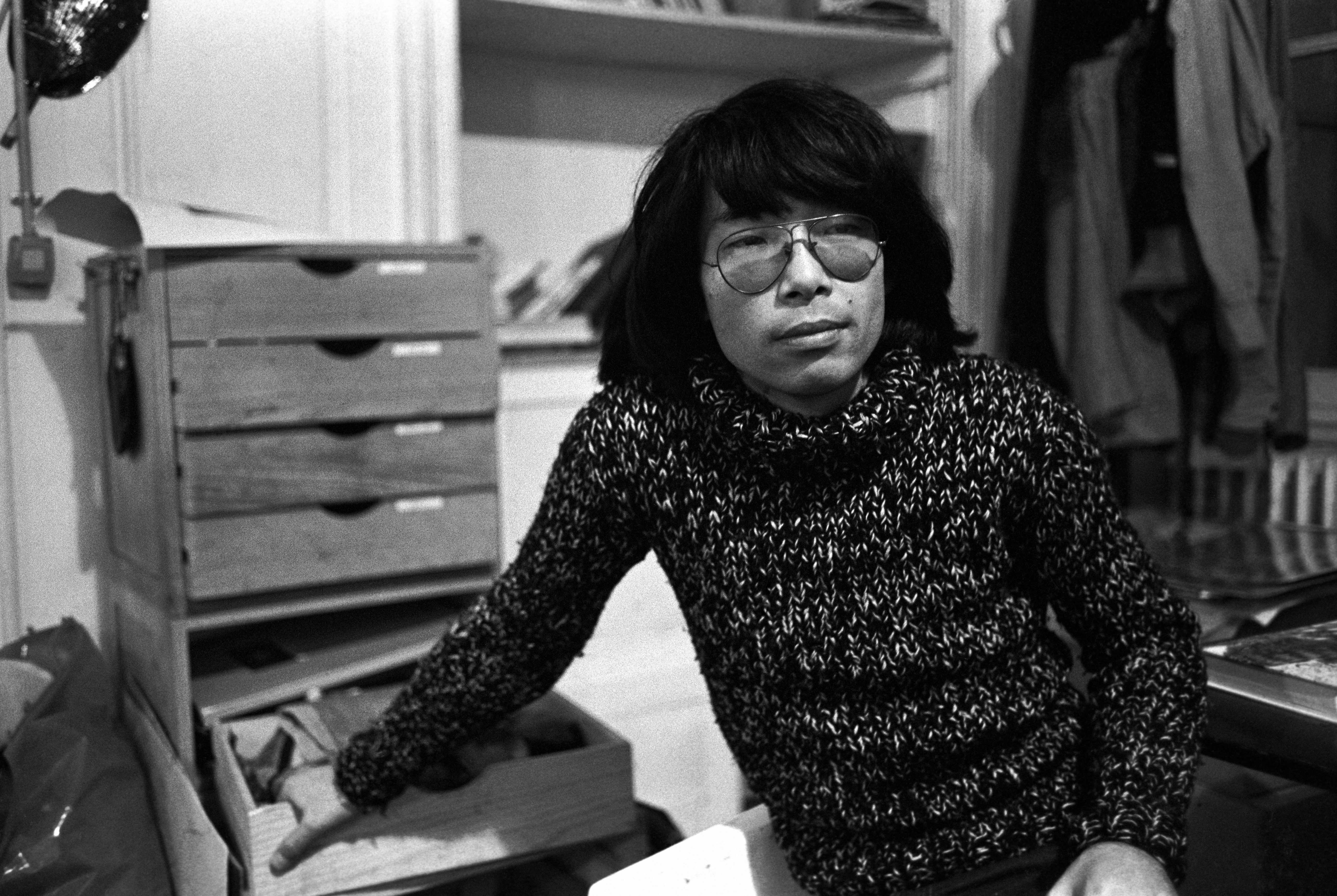 Kenzo Takada in his atelier, 1973.