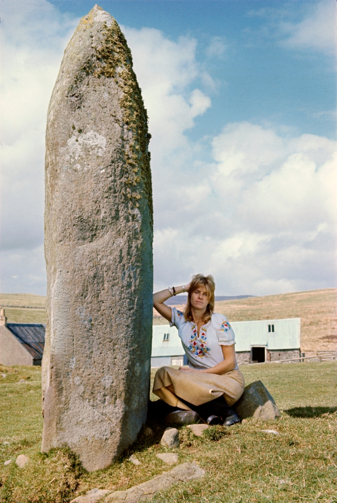 """""""L"""" is for """"Linda"""" and """"Love,"""" represented in a 1975 self-portrait by Linda McCartney."""