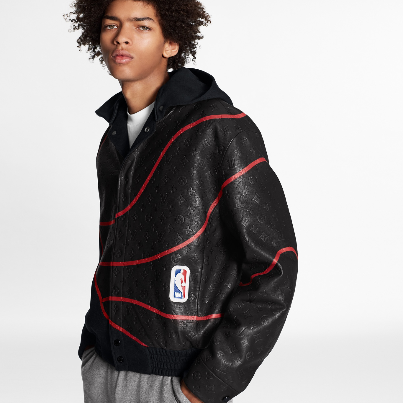 A look from the Louis Vuitton x NBA capsule collection