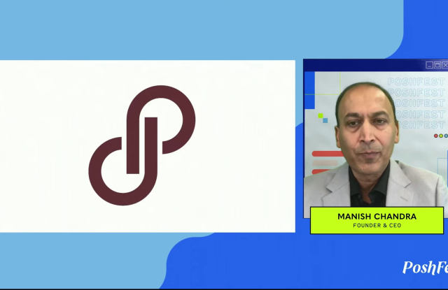 Manish Chandra, founder and ceo of Poshmark, at the virtual PoshFest event in October.