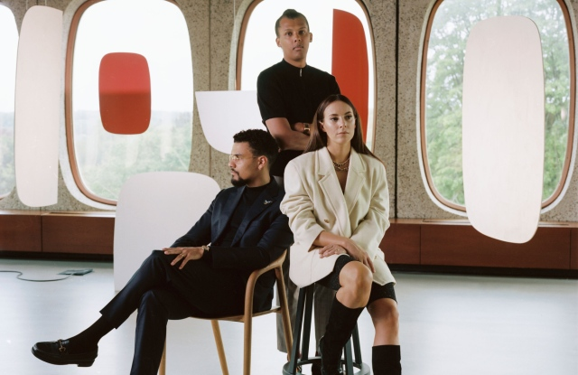 Luc Junior Tam, Paul Van Haver and Coralie Barbier.