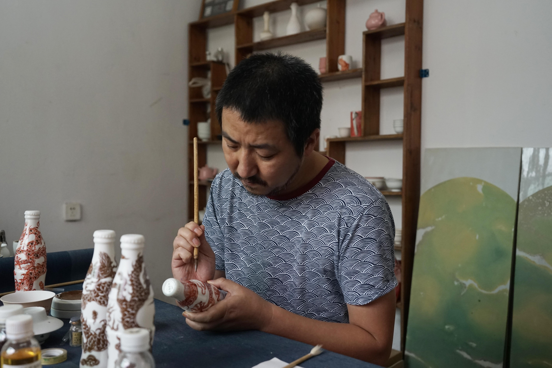 Artist Li Lihong and Sacai's collaboration for Lane Crawford.