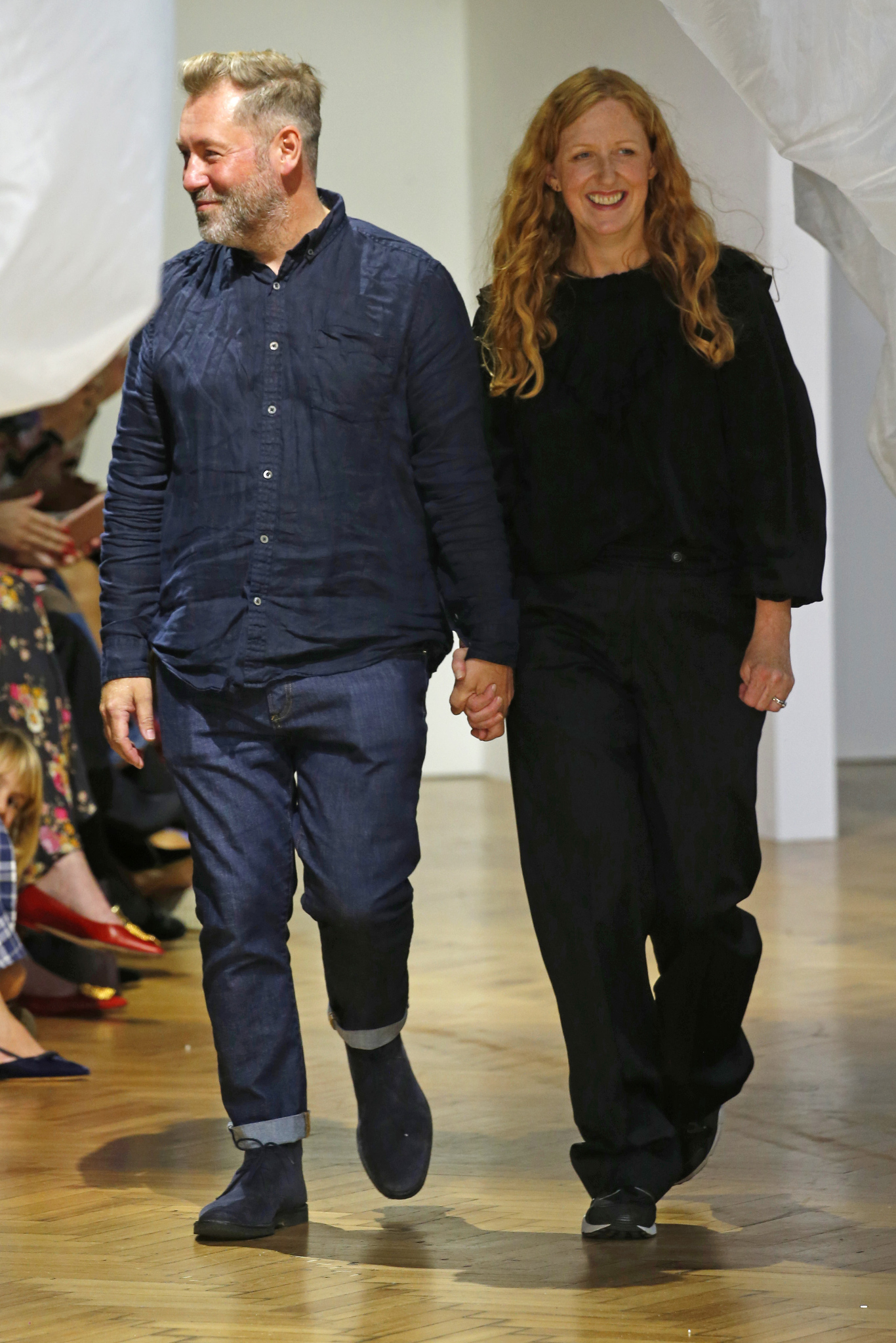 Justin Thornton and Thea Bregazzi on the catwalk