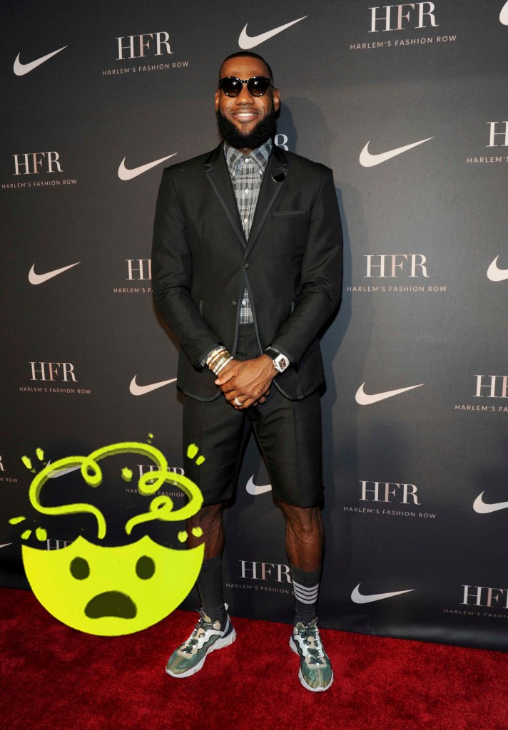 Honoree LeBron James attends a fashion show and awards ceremony held by the Harlem Fashion Row collective and Nike before the start of New York Fashion Week, Tuesday, Sept. 4, 2018. (AP Photo/Diane Bondareff)
