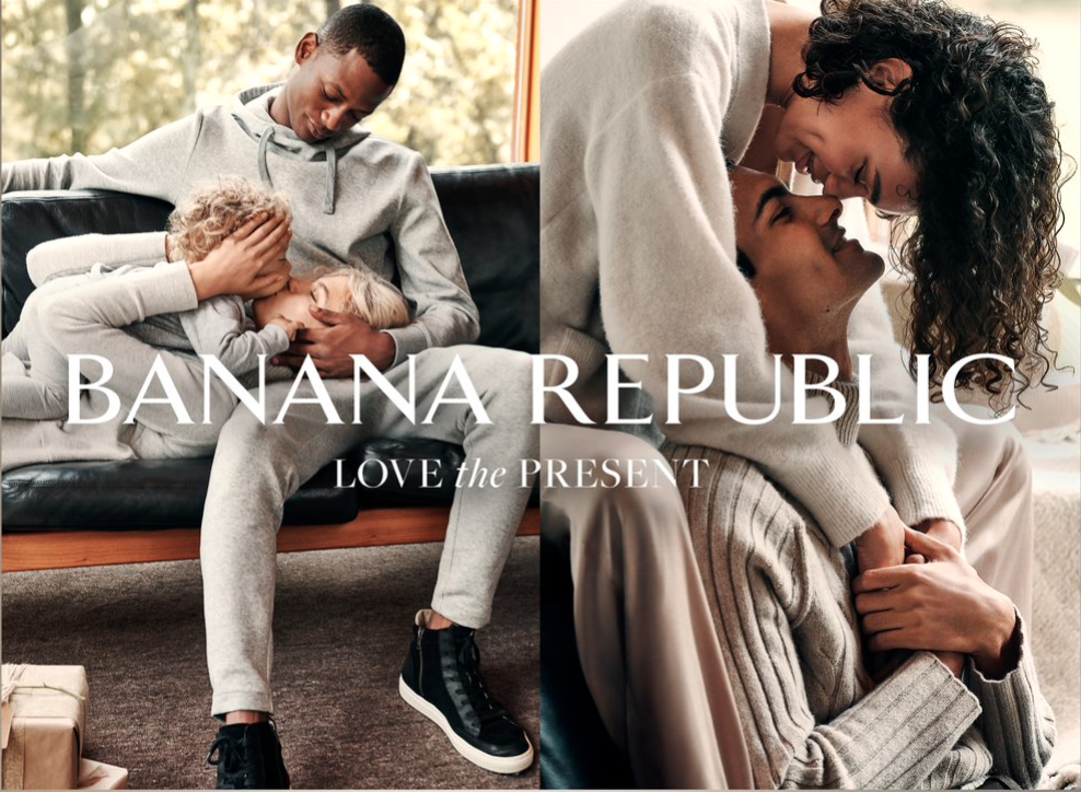An image from Banana Republic's holiday campaign.
