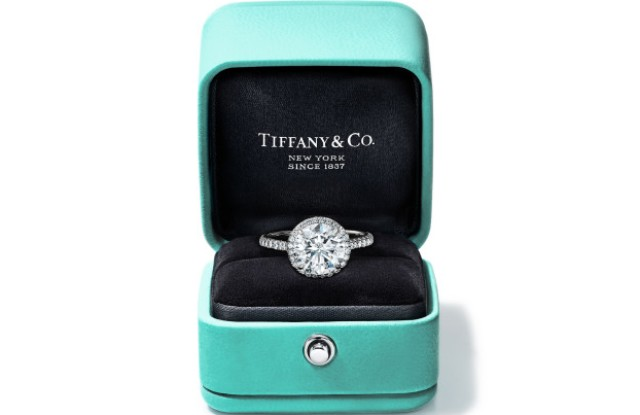 Tiffany blue box diamond ring