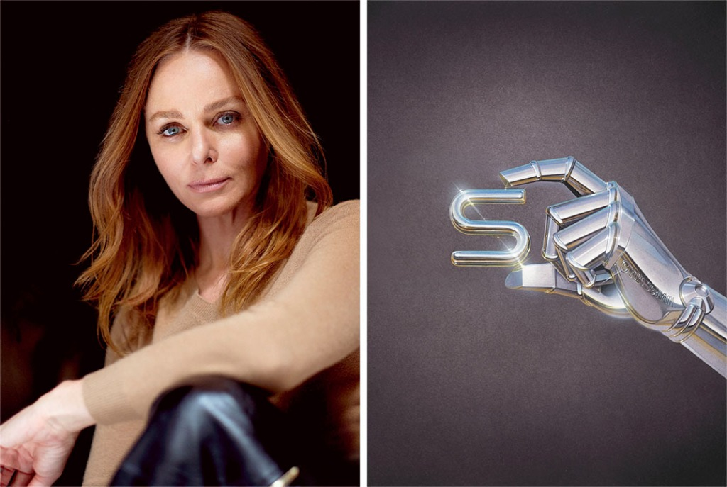 "For her A-to-Z manifesto, Stella McCartney enlisted artists from around the world to each create the imagery for a letter. Hajime Sorayama created ""S"" for ""Sustainability."""