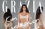 Kim Kardashian West fronting an editorial for the debut of Grazia USA.