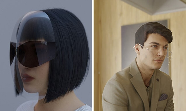 Designer Joe Doucet's fashionable face shield is now a product called Vue Shield, which will ship in November.