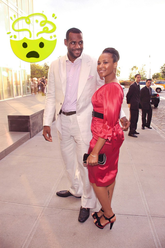 Basketball player Lebron James, with Savannah Brinson, arriving at a fund-raiser in honor of Michelle Obama, wife of presidential candidate Barack Obama