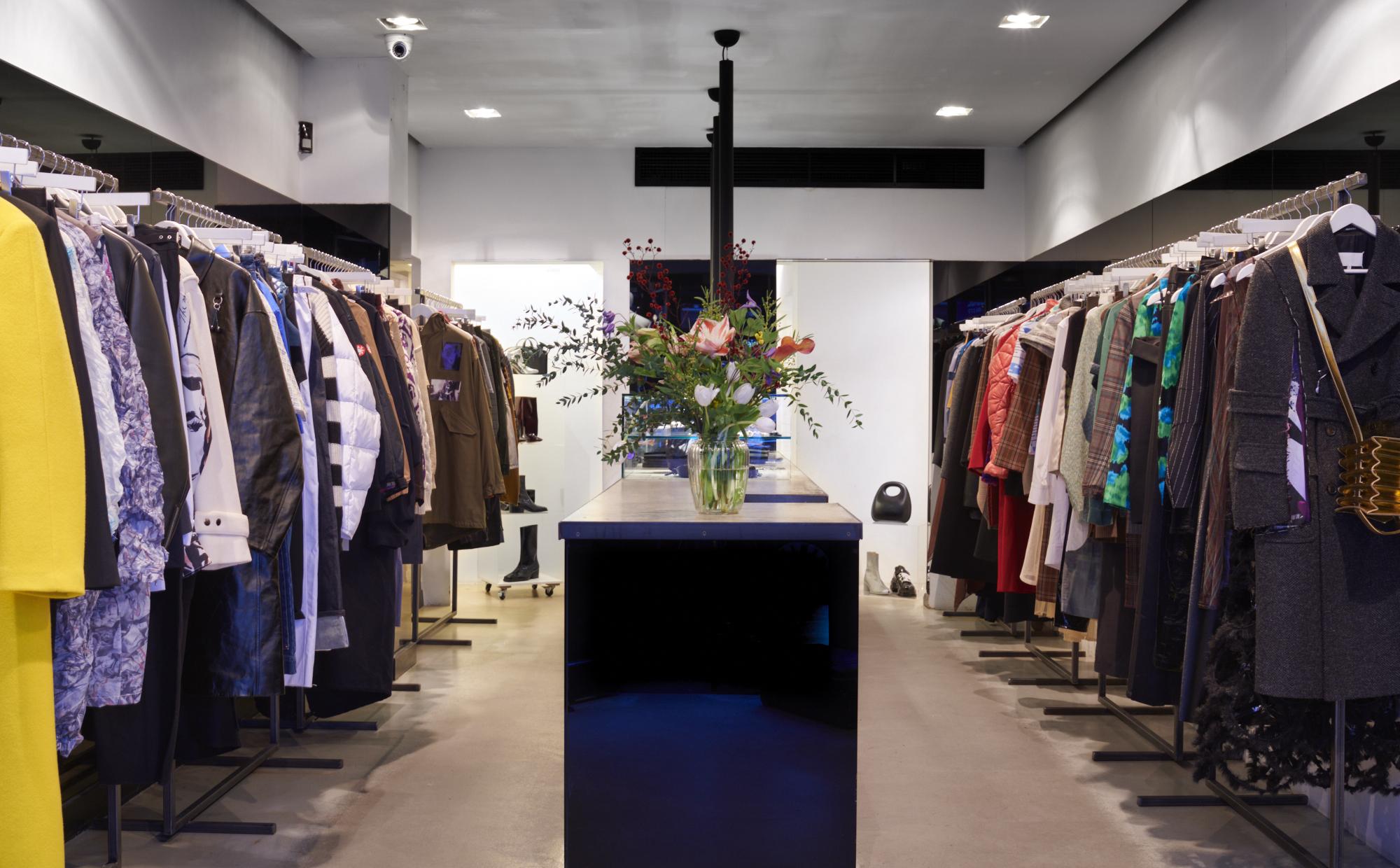 Inside of Machine-A store in Soho, London