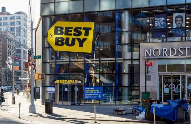 Outside a Best Buy store in Manhattan on Black Friday.