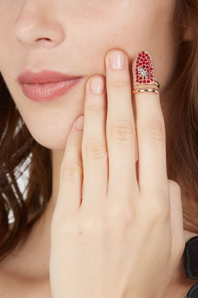 A nail-shaped ring from the Vivetta jewelry collection.