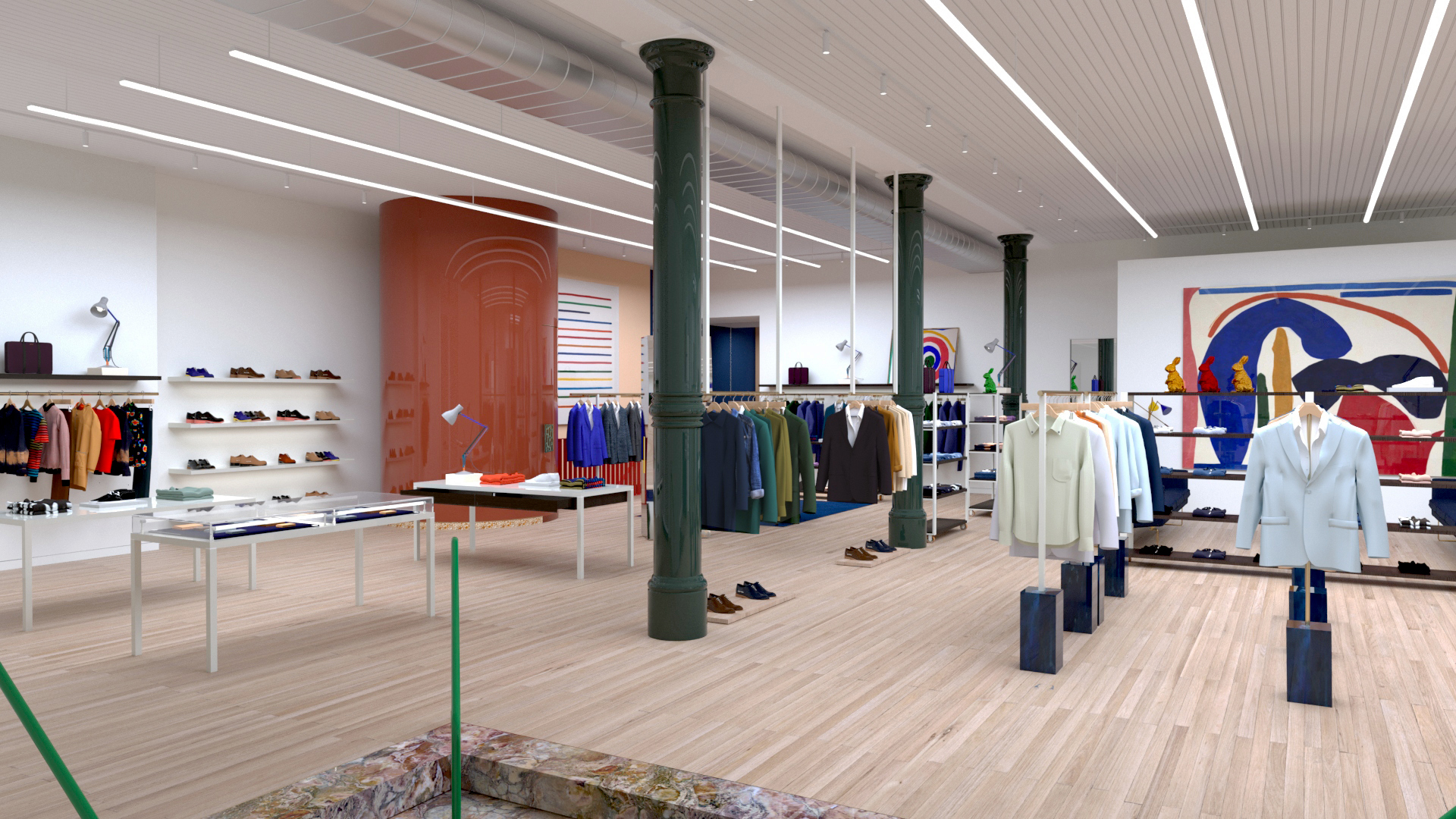A look inside Paul Smith's new Wooster Street store in SoHo.