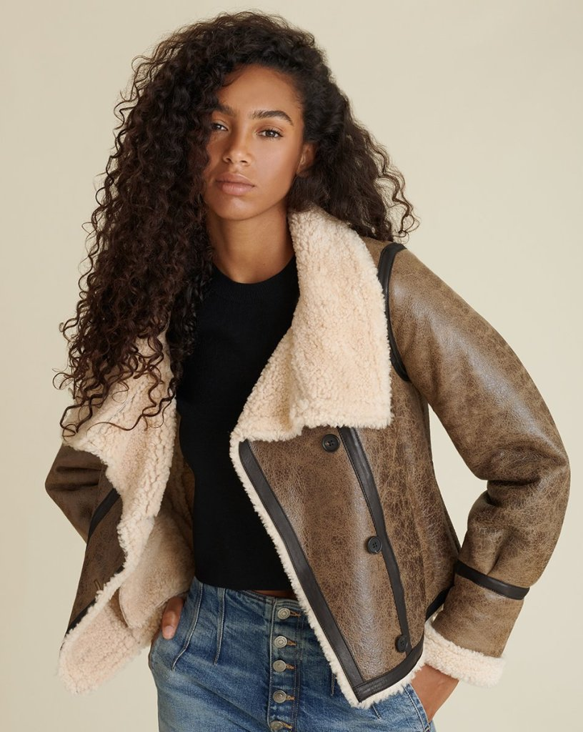 Christmas Gifts 2020 Veronica Beard Shearling Jacket