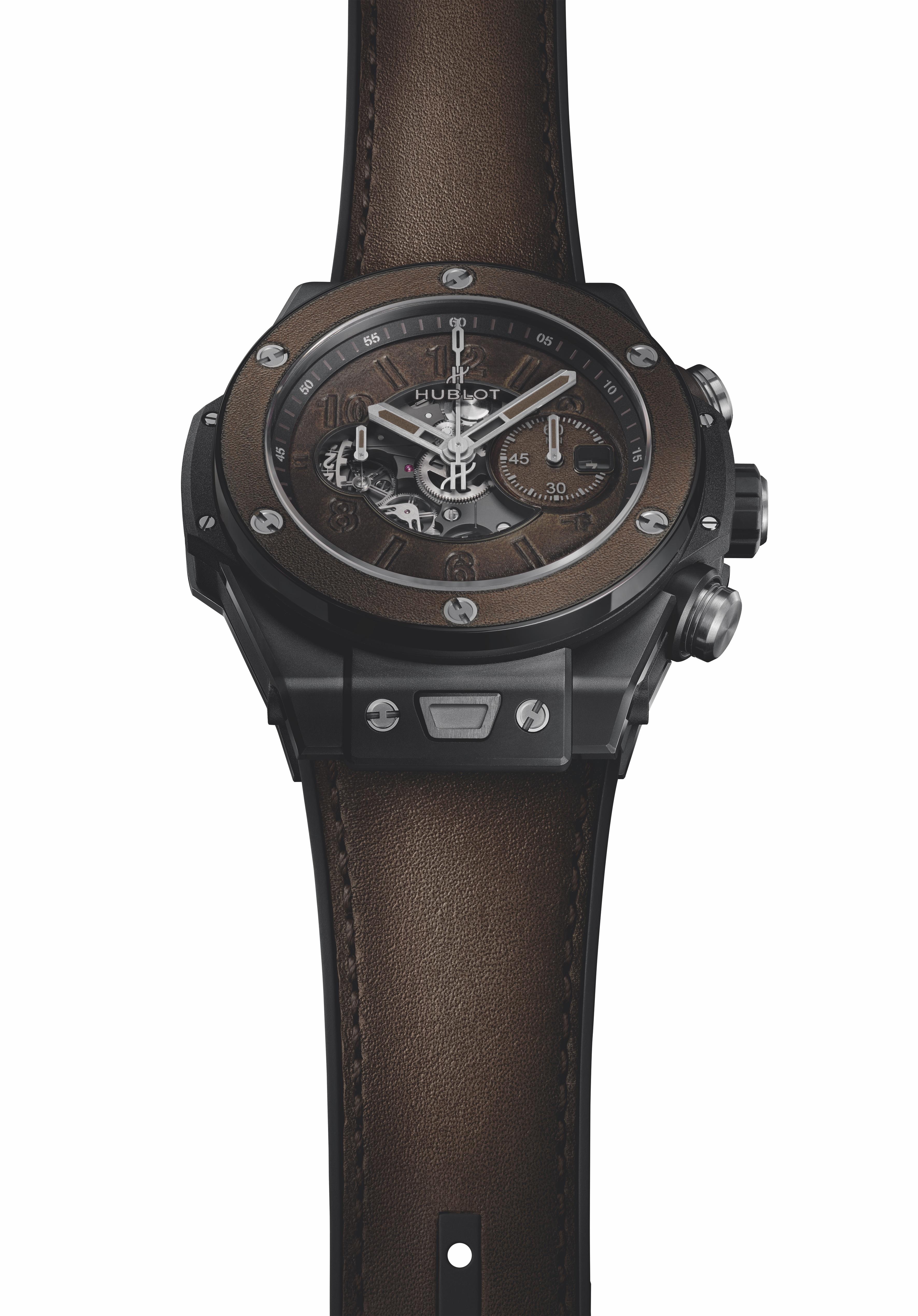 Hublot's Big Bang Unico Berluti watch.