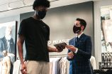 James Wiseman at the Indochino Miami showroom