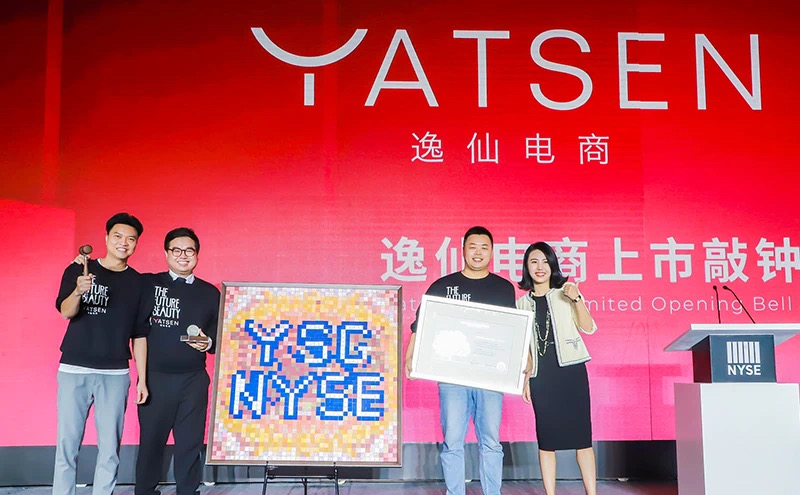 Yatsen founders celebrates the IPO at Rosewood Hotel, Guangzhou