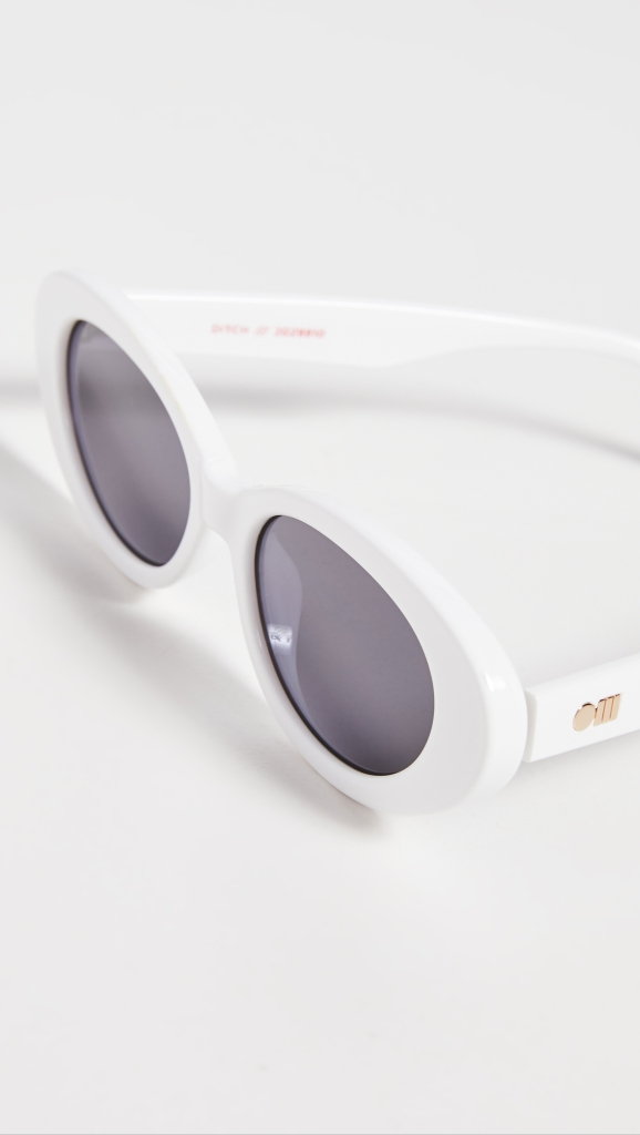 Christmas Gift 2020 Le Specs X Solid and Striped Cateye Sunglasses