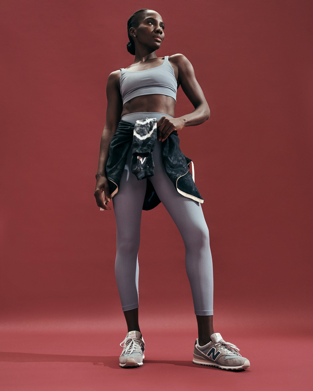 Intermix Activewear Launch featuring Beach Riot's top and legging and Electric & Rose's hoodie.