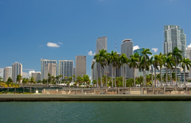 Skyline of downtown Miami, Miami, Florida, USA (Andre Seale / VWPics via AP Images)
