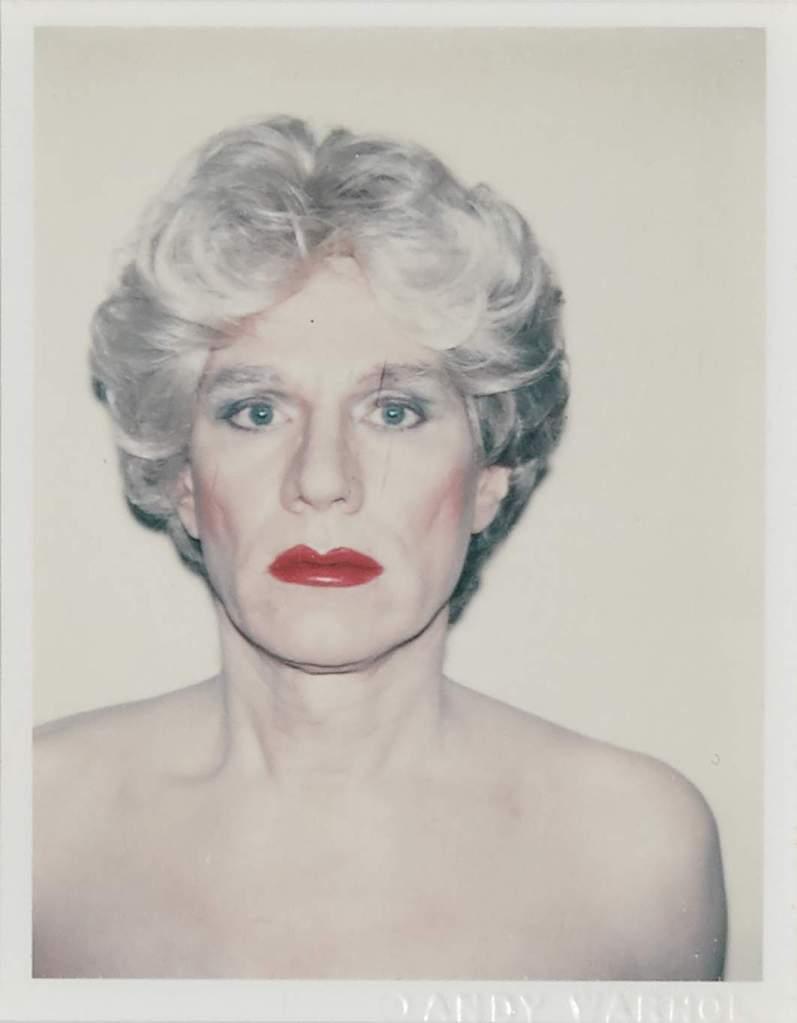 "Andy Warhol's ""Self Portrait in Drag"""