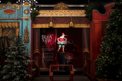 Christmas windows at BHV Marais