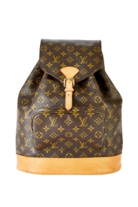 A Louis Vuitton backpack on the Wardrobe site.