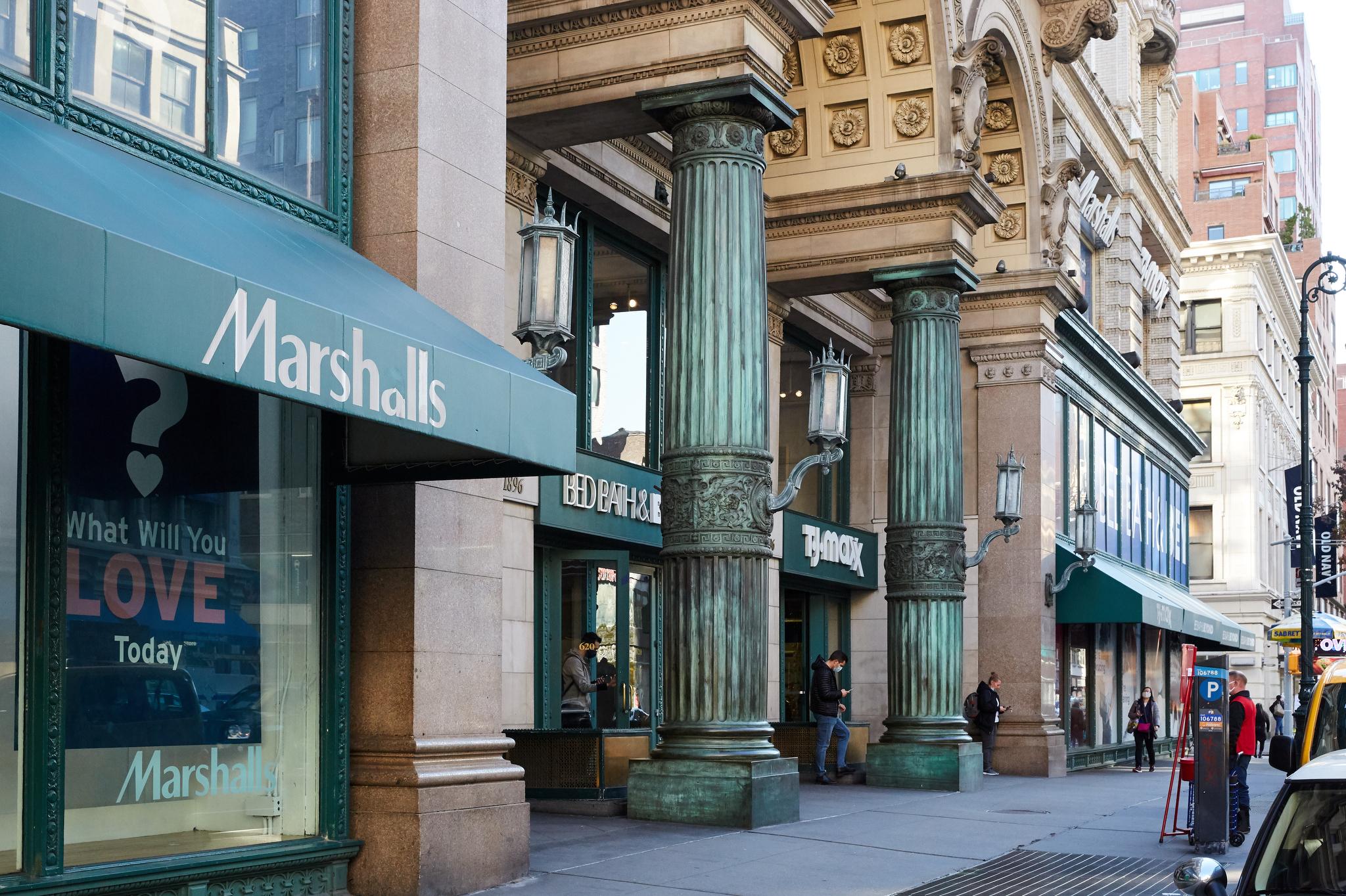 TJMaxx و مارشالز در سال 2020 در شهر نیویورک.