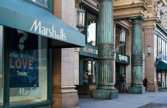 T.J.Maxx, and Marshalls in New York City in 2020.