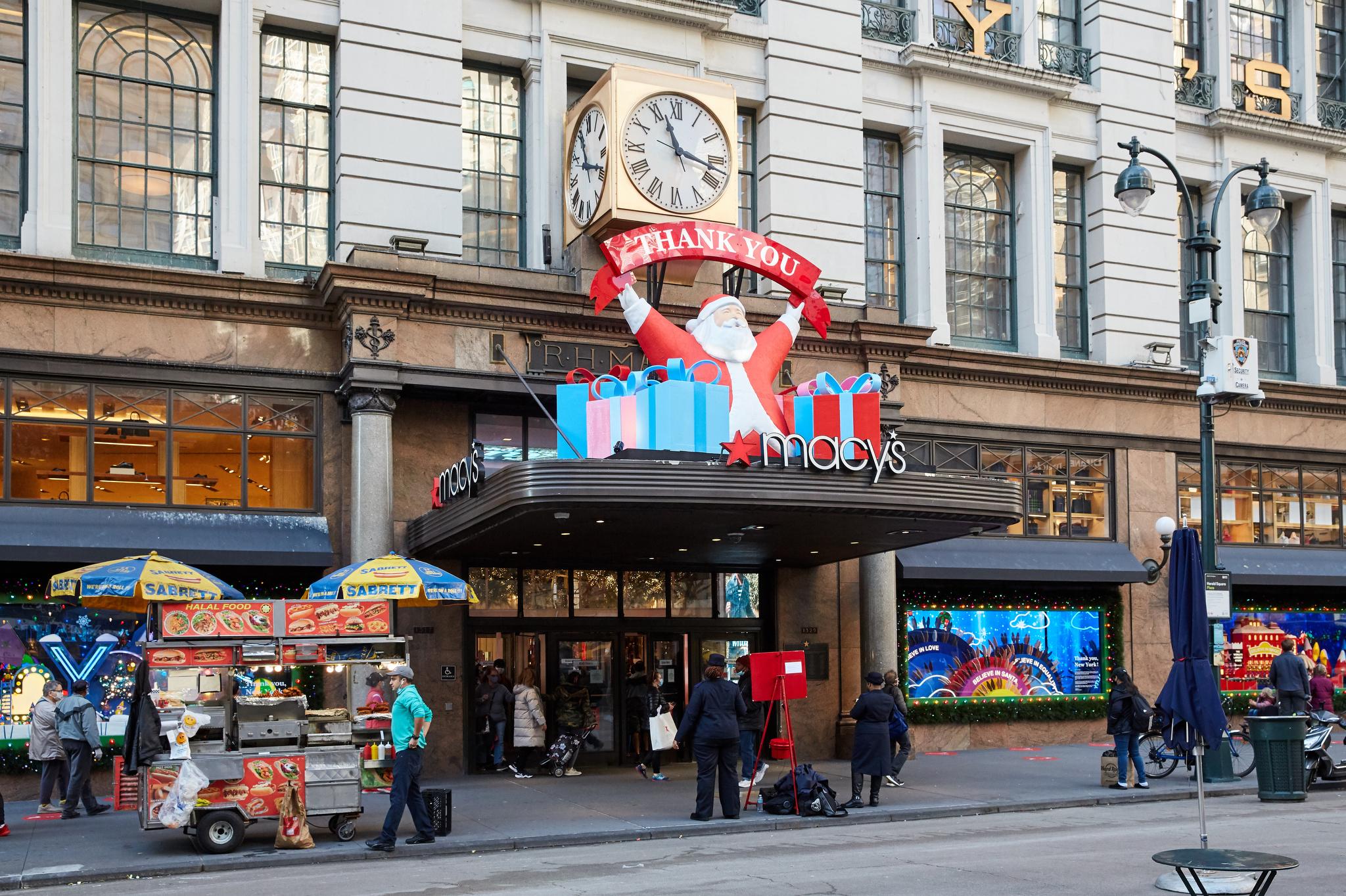 Macy's in New York City on Black Friday, 2020.