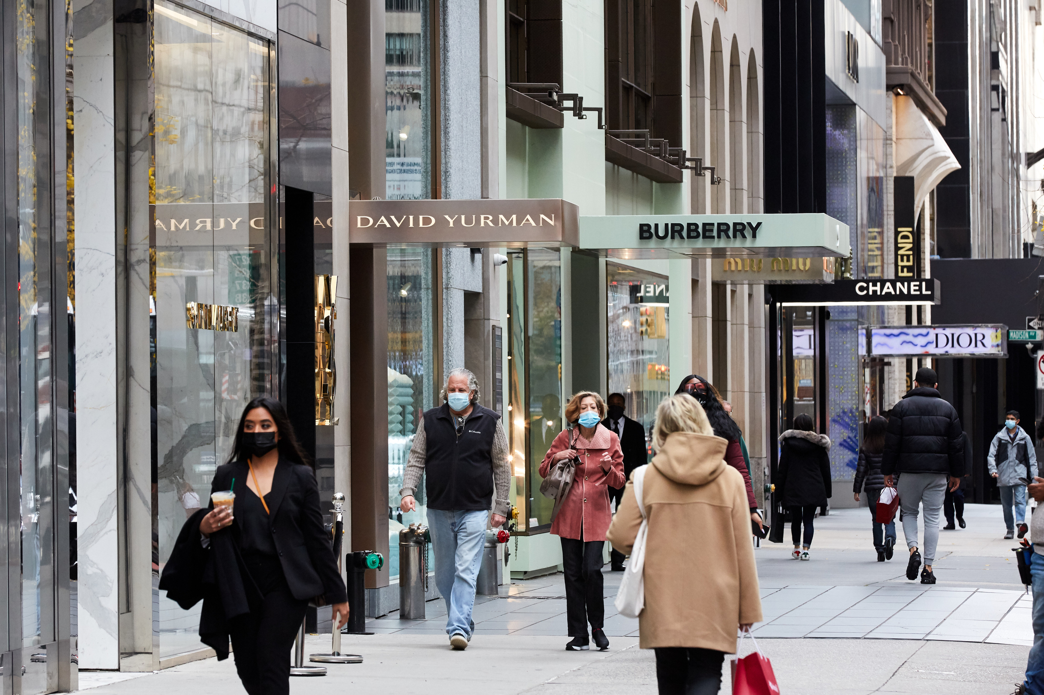 Black Friday shoppers in New York City.