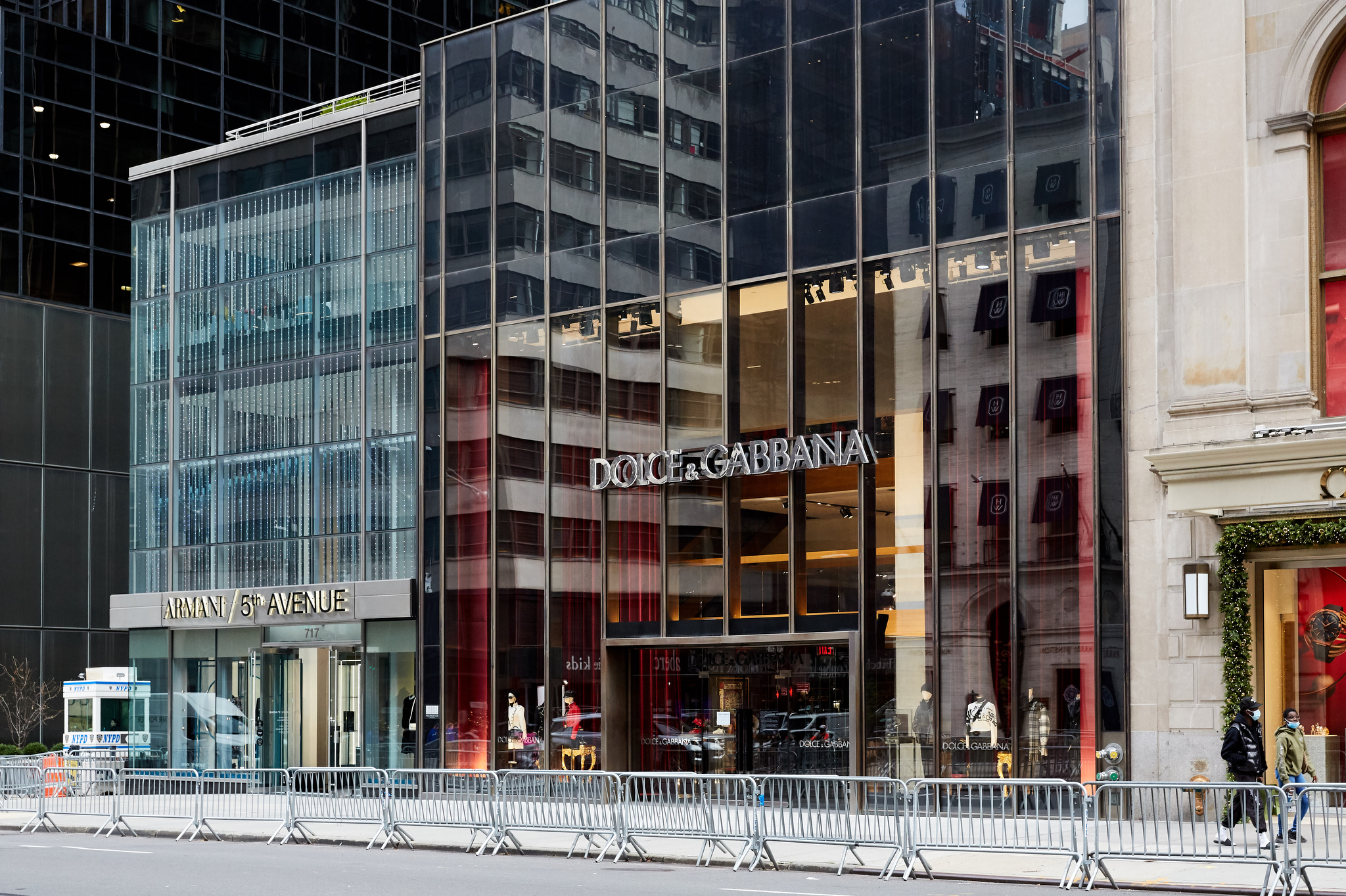 Dolce and Gabbana in New York City on Black Friday, 2020.