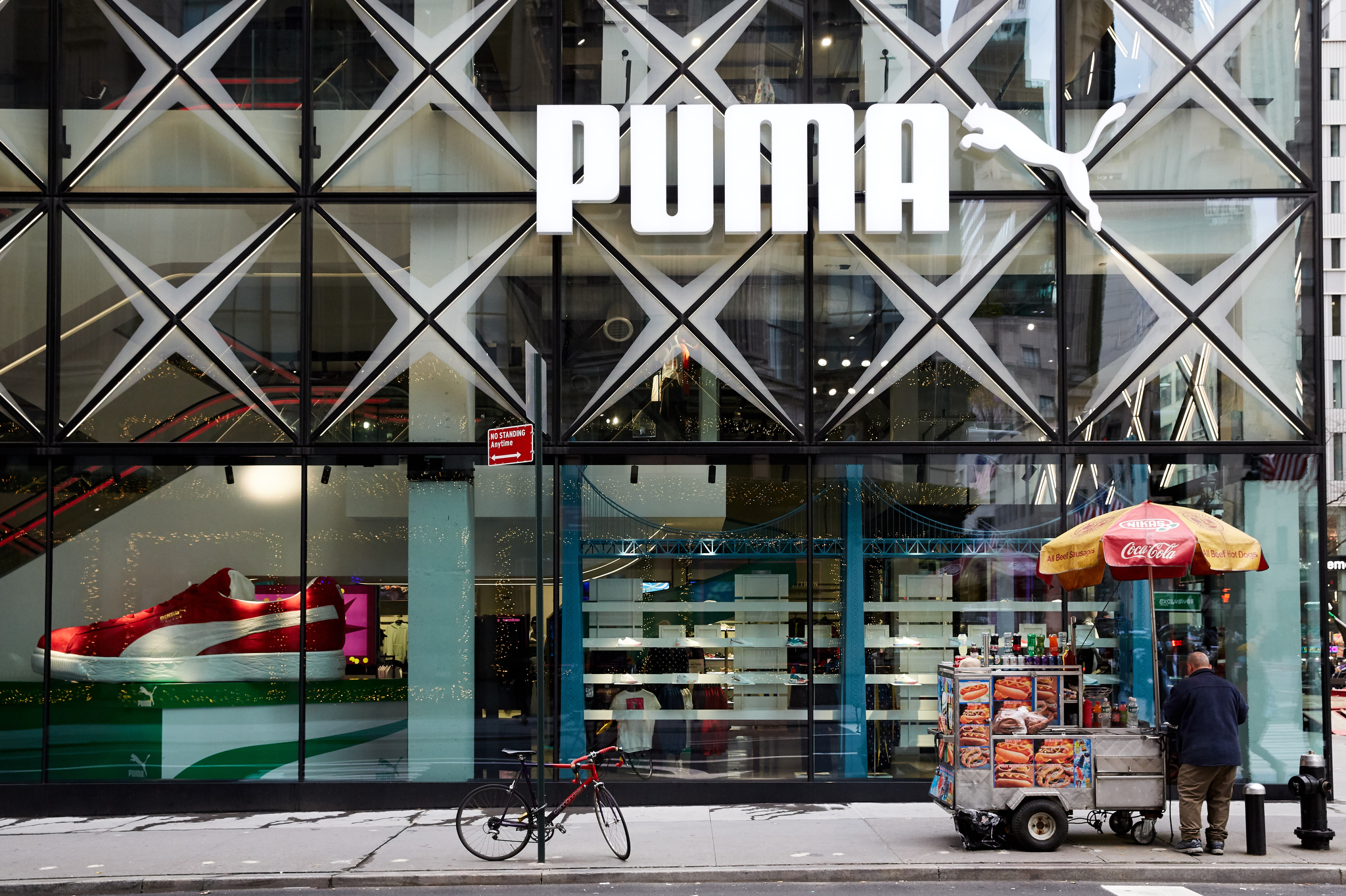 Puma in New York City on Black Friday, 2020.