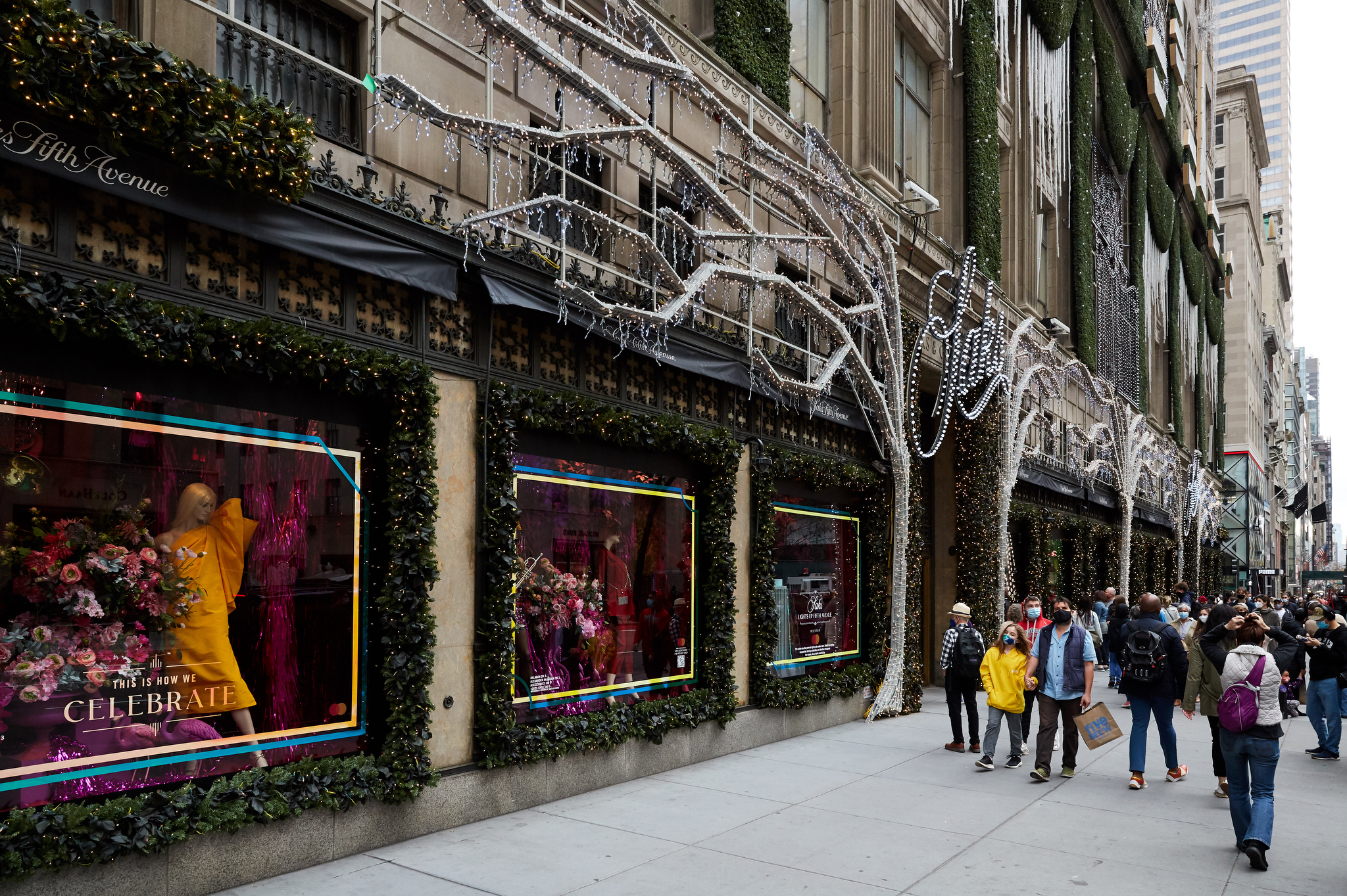 Saks Fifth Avenue in New York City on Black Friday, 2020.
