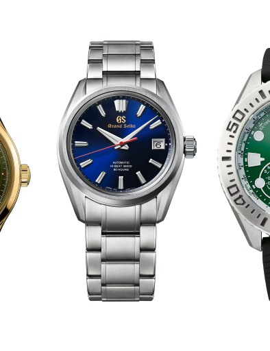 From Left: Montblanc, Grand Seiko, and Citizen