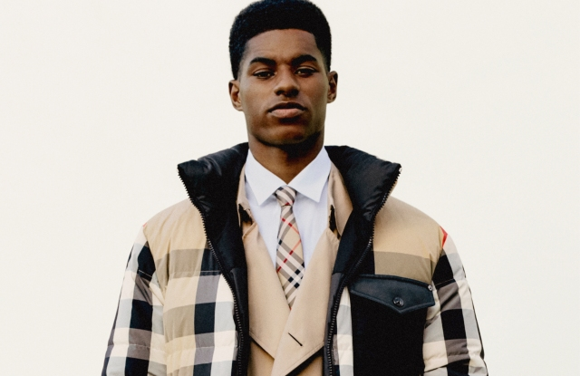 Marcus Rashford makes his fashion campaign debut with Burberry.