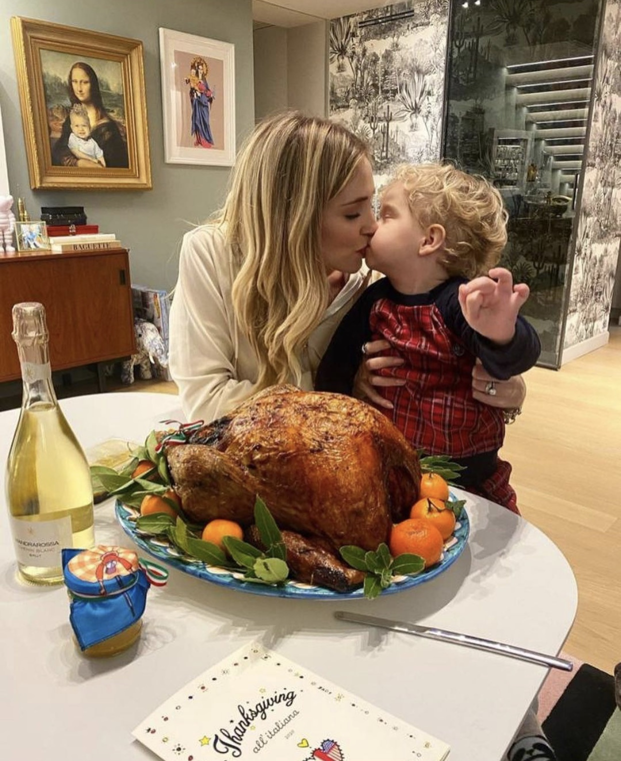 Chiara Ferragni celebrates Thanksgiving in Milan