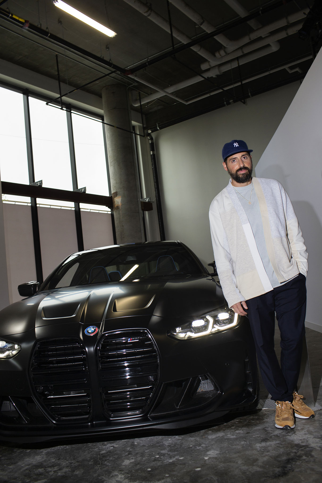 Ronnie Fieg with his BMW Collaboration, NYC.