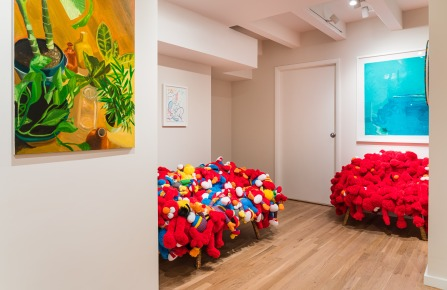 Installation view at Room57.