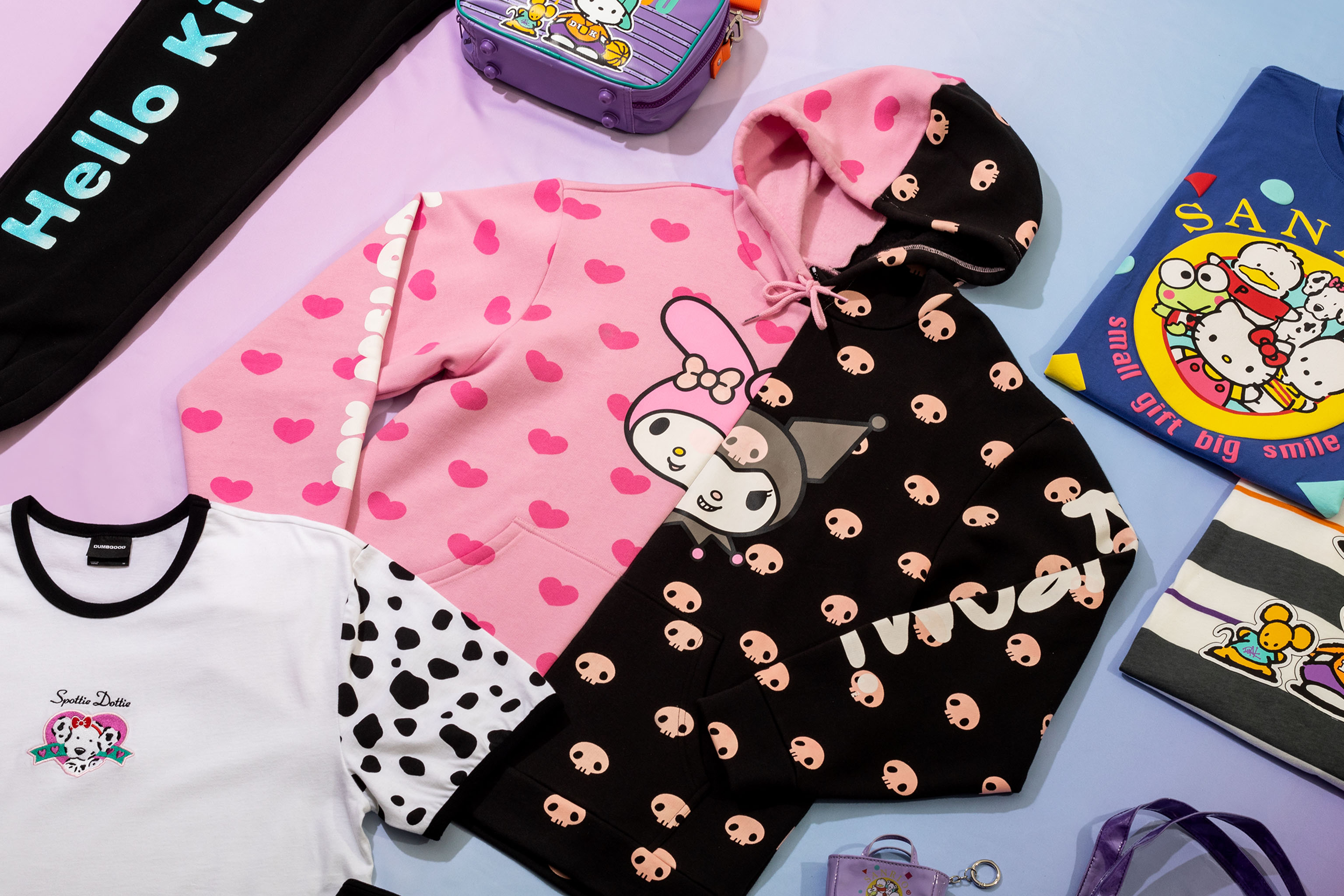 Pieces from Sanrio and Dumbgood's Hello Kitty Capsule.