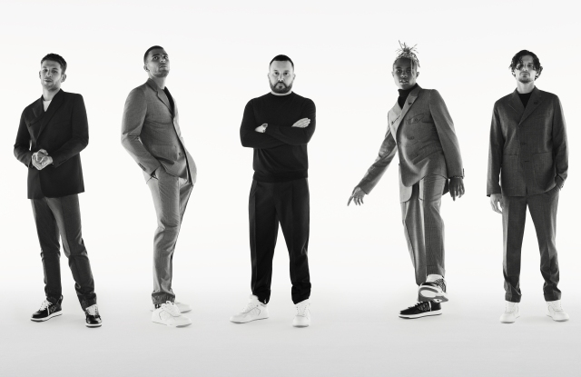 Arnaud Valois, Younes Bendjima, Kim Jones, Kailand Morris and Jérémie Laheurte.
