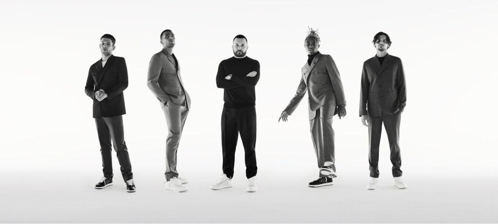 Arnaud Valois, Younes Bendjima, Kim Jones, Kailand Morris and Jérémie Laheurte.