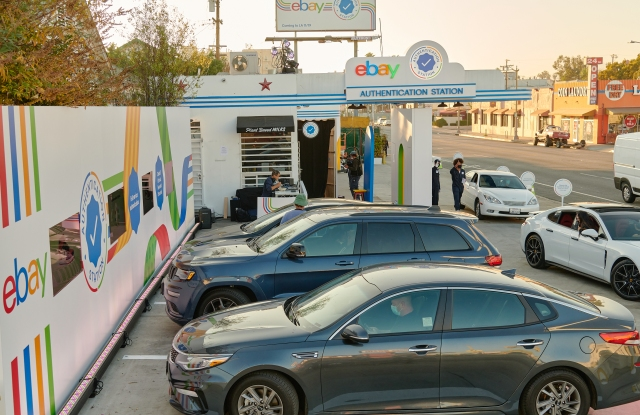 EBay's Authentication Station, a three-day event in Los Angeles where people can have luxury watches and sneakers authenticated via drive-thru.