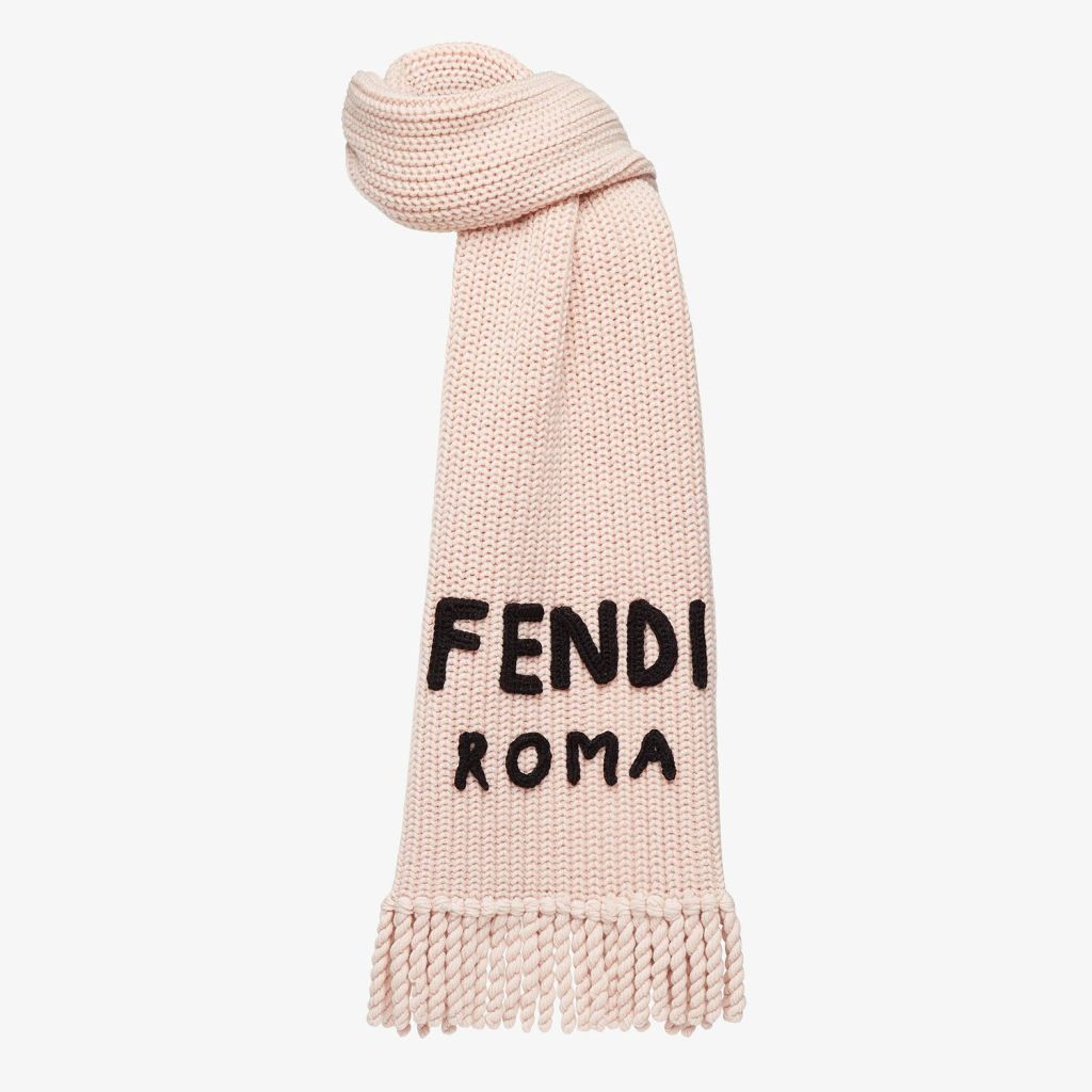 Christmas Gifts 2020 Fendi signature pink wool scarf